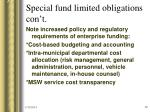 special fund limited obligations con t