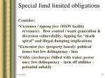 special fund limited obligations