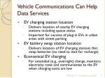 vehicle communications can help data services9
