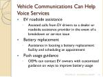 vehicle communications can help voice services