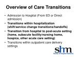 overview of care transitions