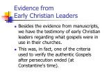 evidence from early christian leaders
