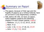 summary on papyri1