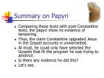 summary on papyri2