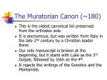 the muratorian canon 180