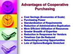 advantages of cooperative purchasing