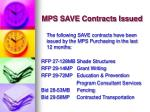 mps save contracts issued