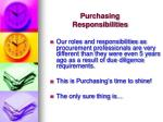 purchasing responsibilities