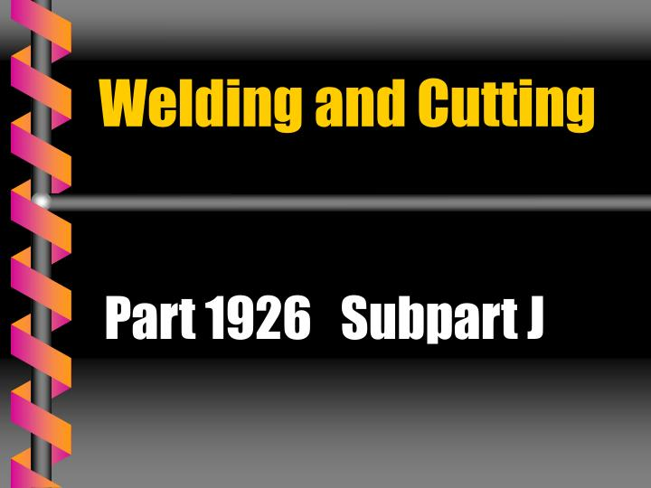 welding and cutting n.