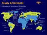 study enrollment