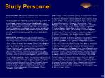study personnel