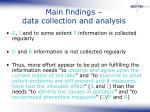 main findings data collection and analysis
