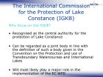 the international commission for the protection of lake constance igkb