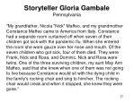 storyteller gloria gambale pennsylvania