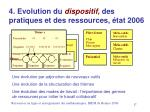 4 evolution du dispositif des pratiques et des ressources tat 2006