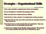 strategies organizational skills