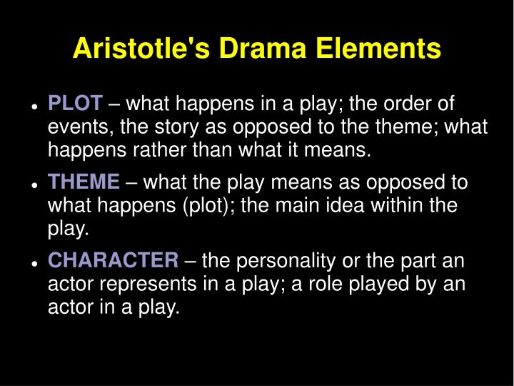 Aristotles Drama Elements