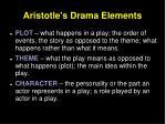 aristotle s drama elements