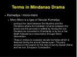 terms in mindanao drama25