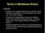 terms in mindanao drama31