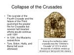collapse of the crusades