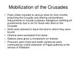 mobilization of the crusades