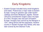 early kingdoms