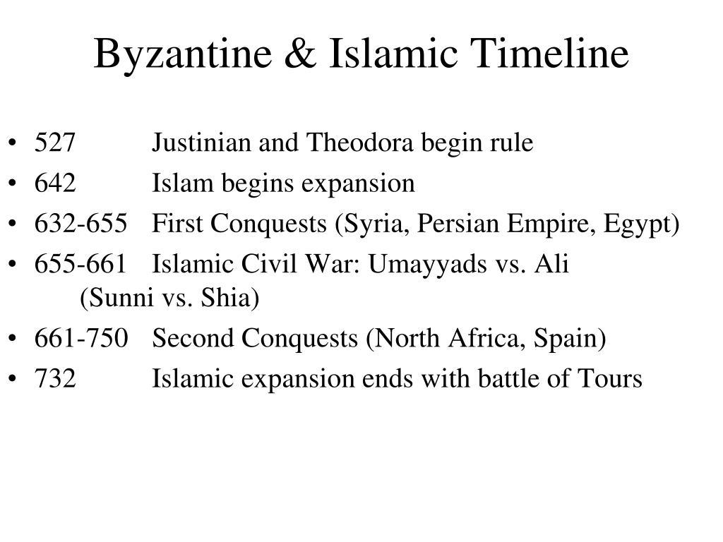 byzantine islamic timeline l.
