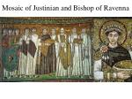 mosaic of justinian and bishop of ravenna