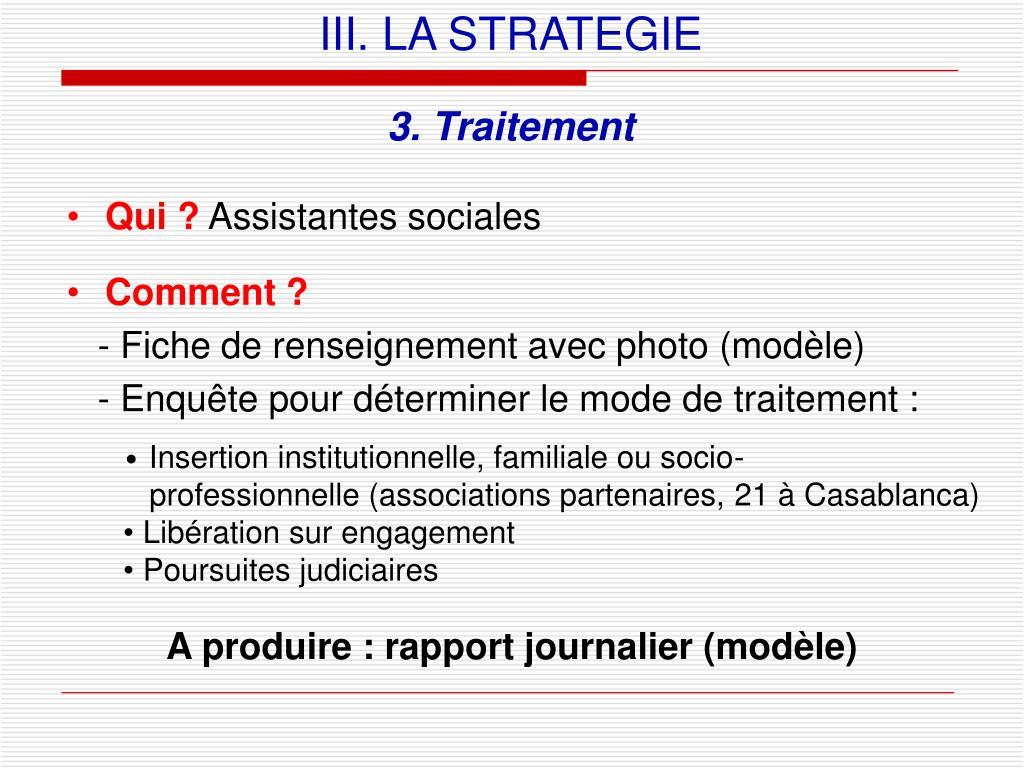 III. LA STRATEGIE