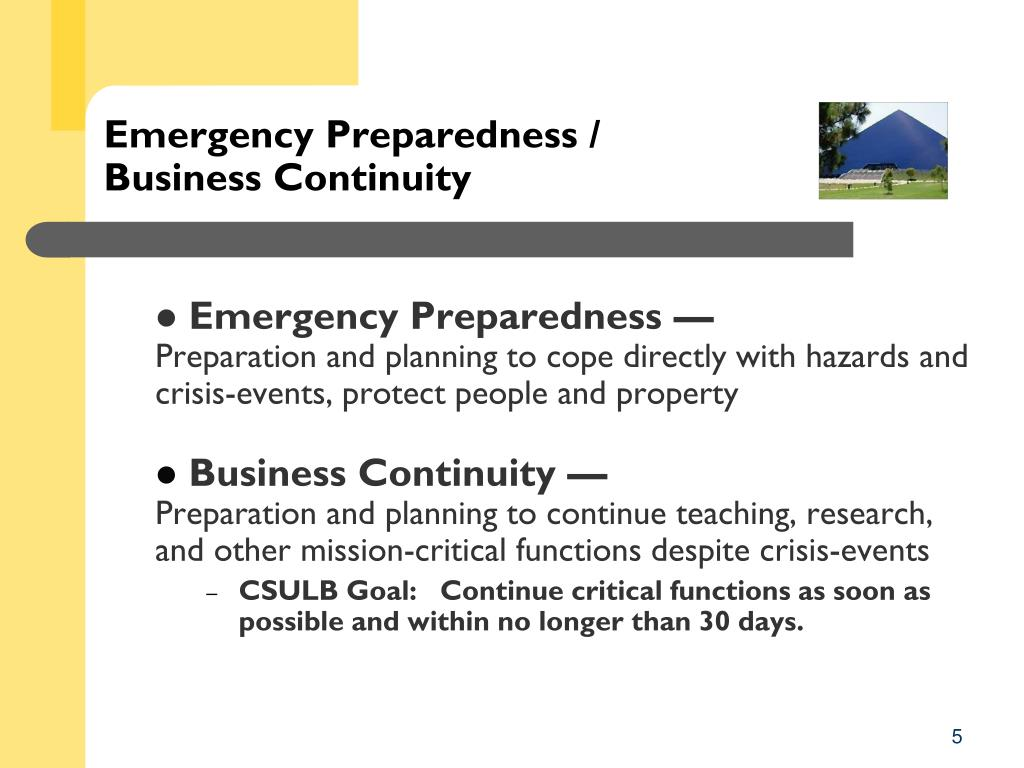 Emergency Preparedness /