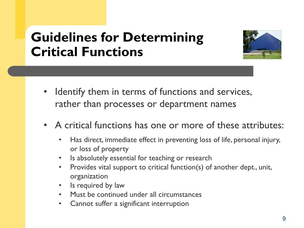 Guidelines for Determining