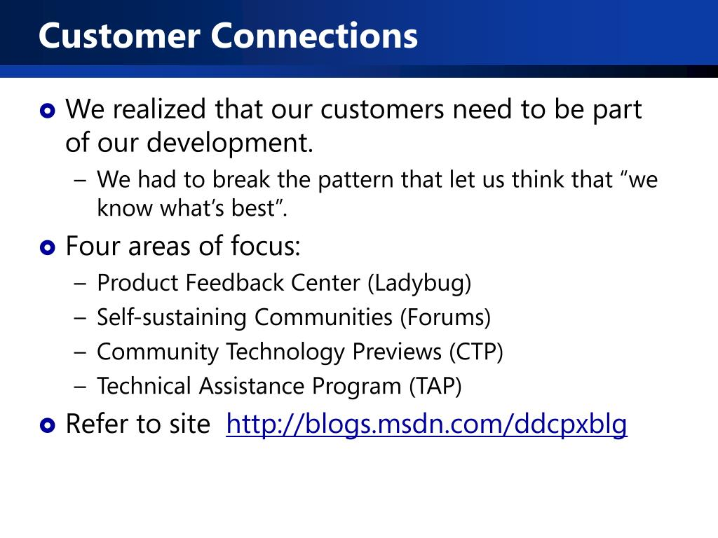 Customer Connections