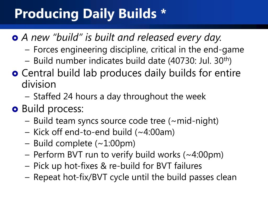 Producing Daily Builds *