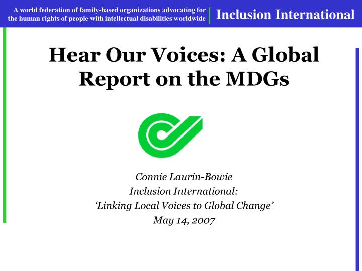 Hear our voices a global report on the mdgs