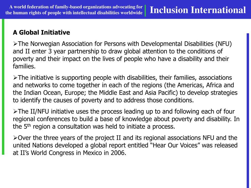 A Global Initiative