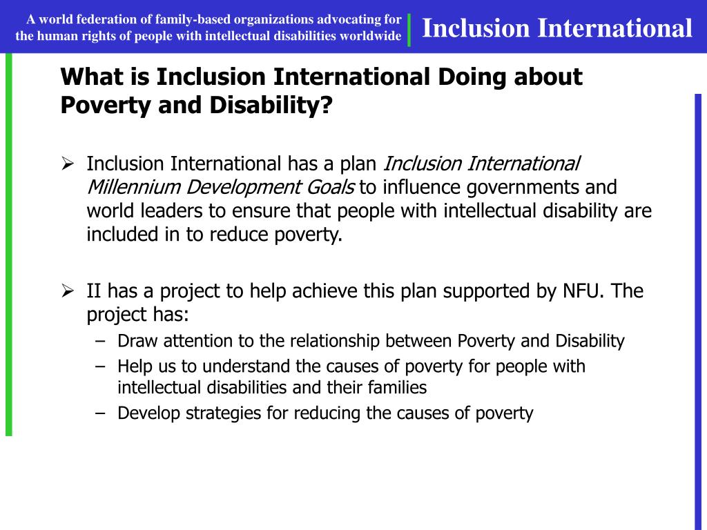 What is Inclusion International Doing about Poverty and Disability?