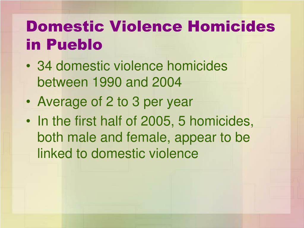 Domestic Violence Homicides in Pueblo