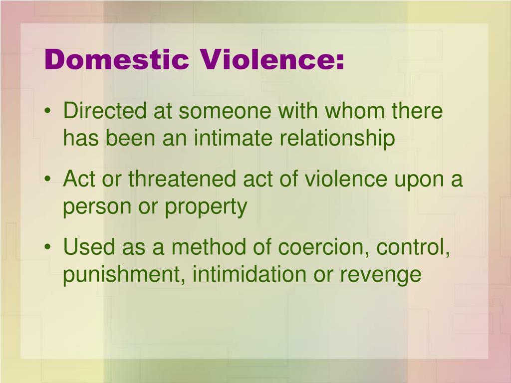 Domestic Violence:
