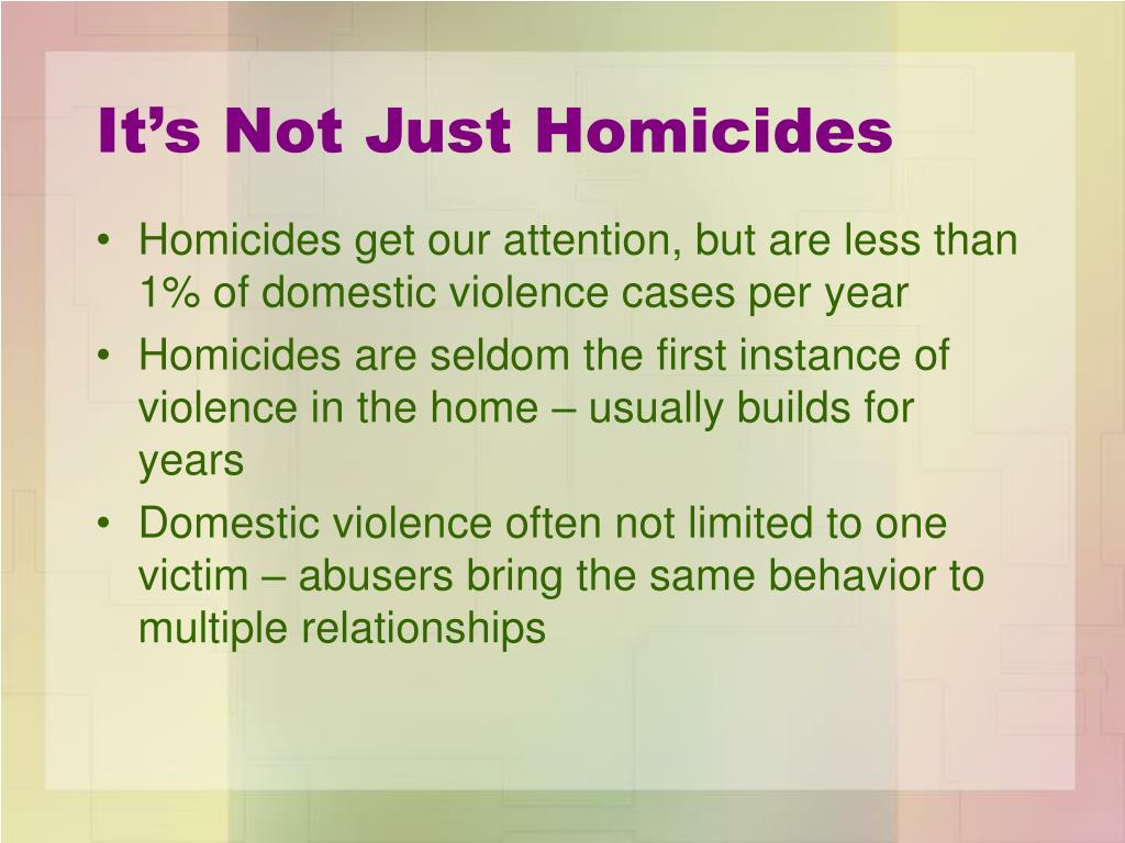It's Not Just Homicides
