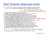 real internet delays and routes47