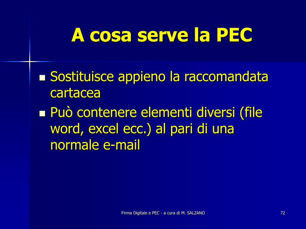 A cosa serve la PEC