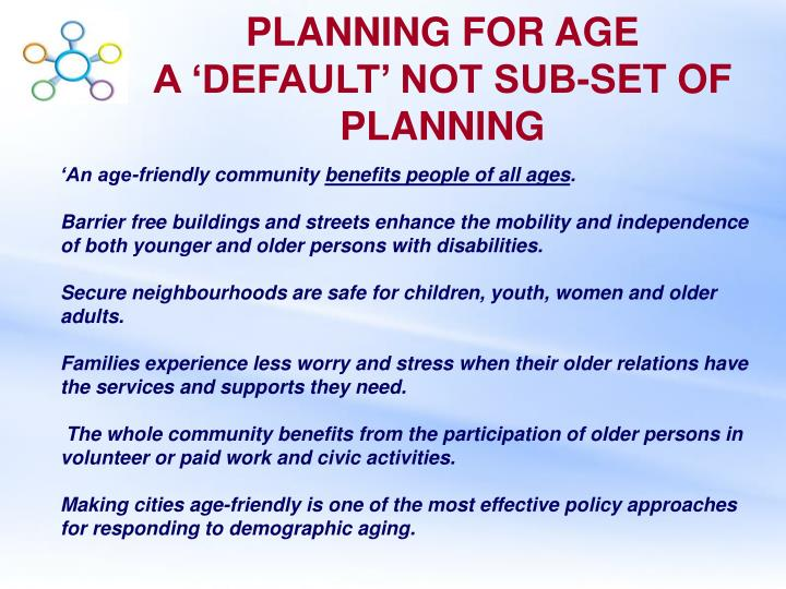 PLANNING FOR AGE