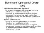 elements of operational design cont31