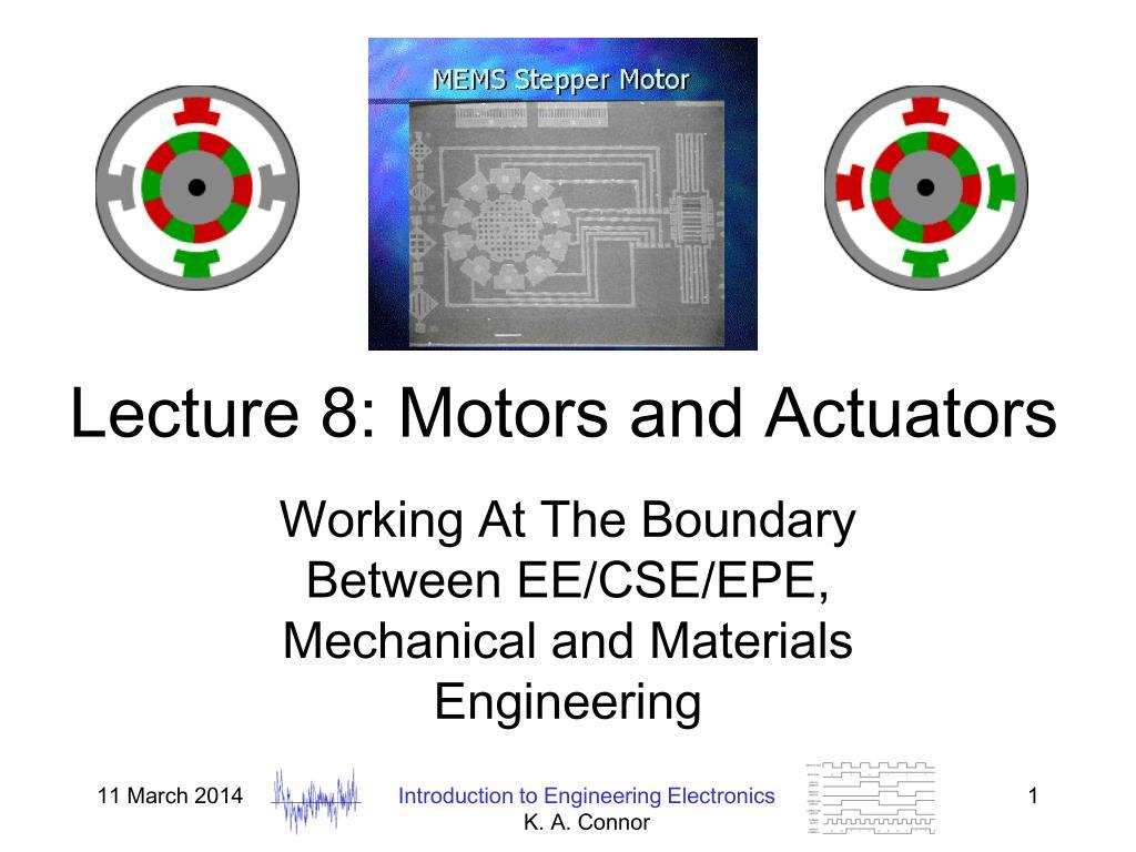 lecture 8 motors and actuators l.