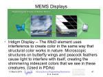 mems displays