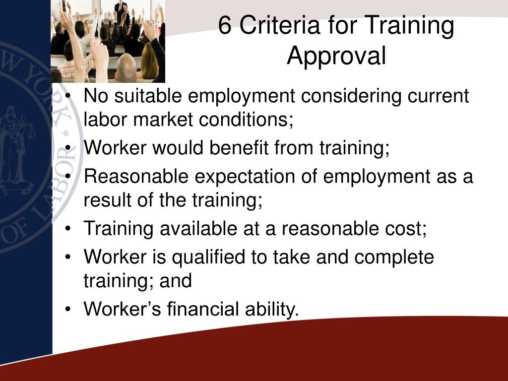 6 Criteria for Training Approval
