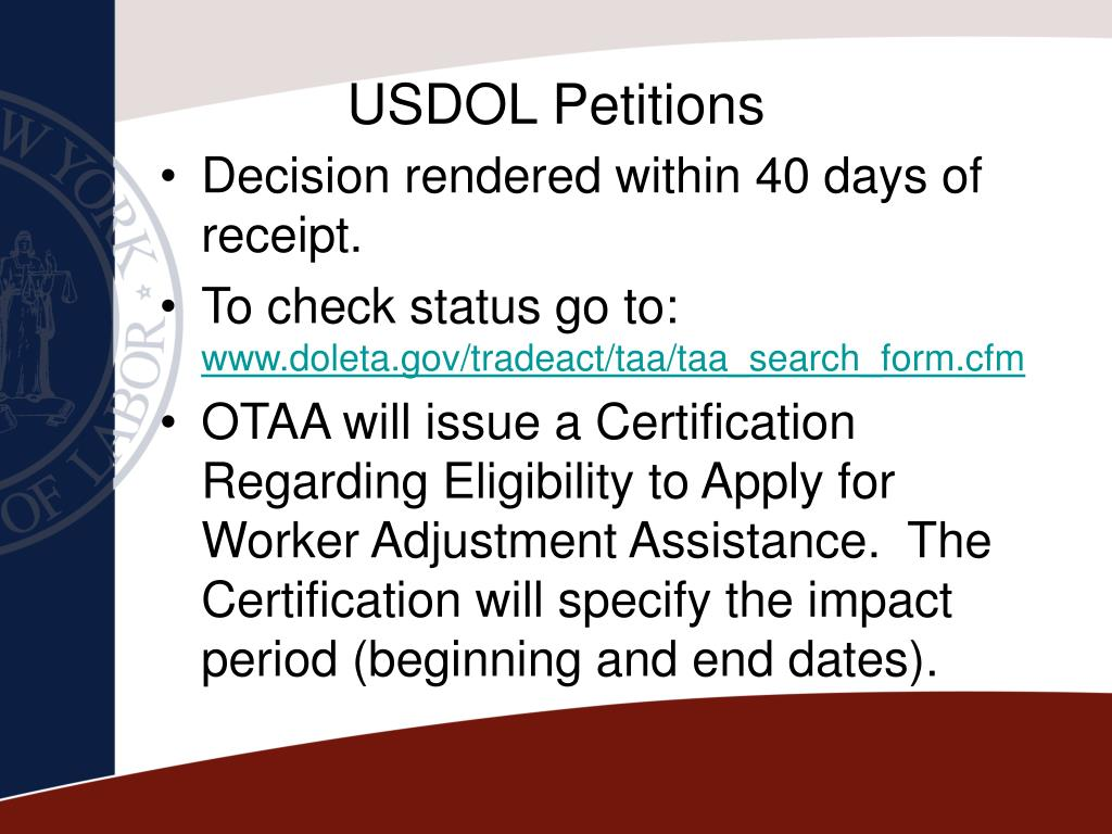 USDOL Petitions