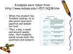 examples were taken from http www indiana edu l517 sq3r htm
