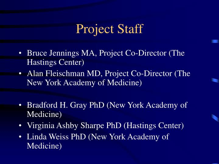 Project staff